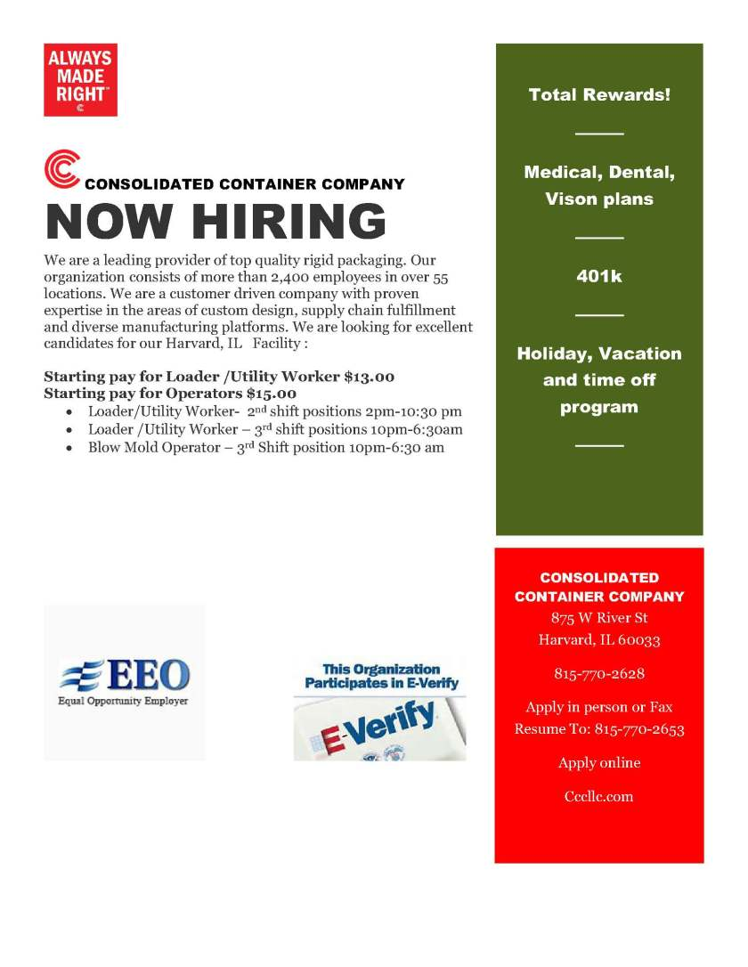 Cons Container Hiring Ad 12.2018