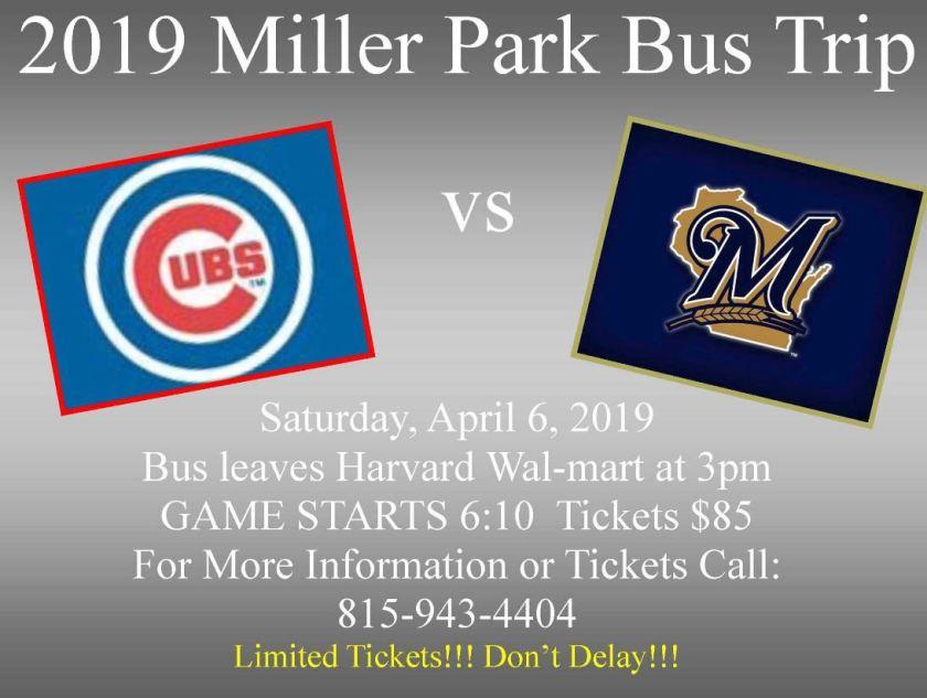 2019 cubs bus trip