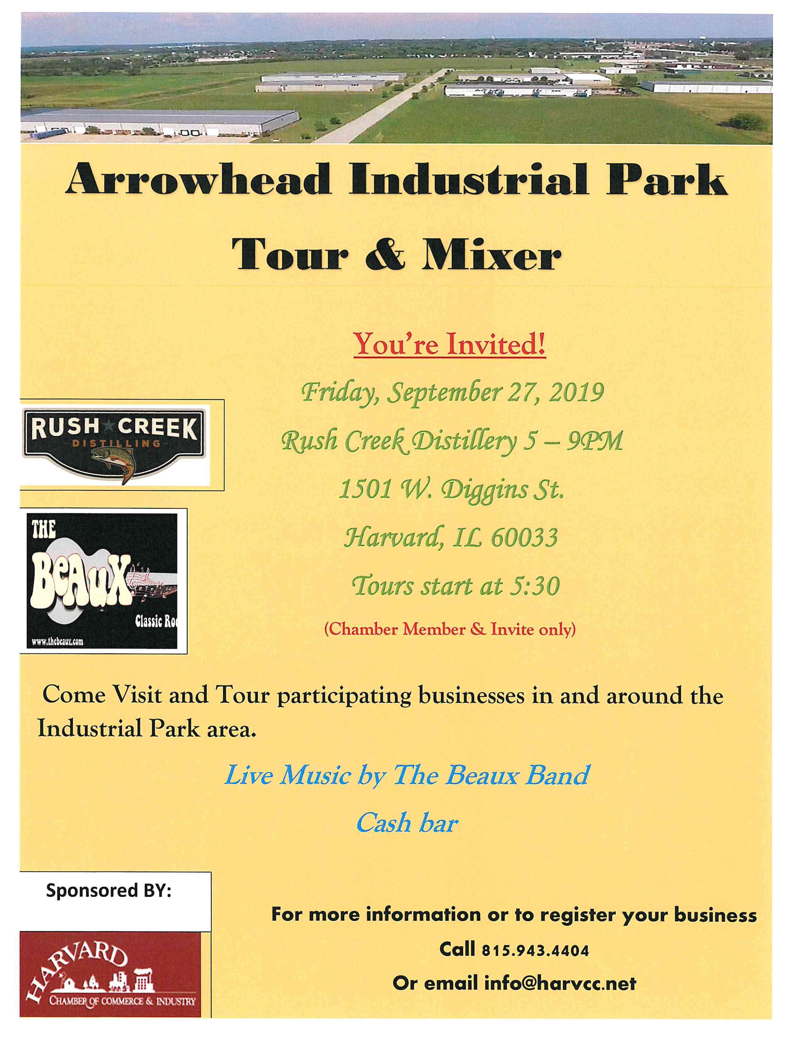 Industrial Park Tour 2019 flyer