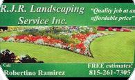 RJR Landscaping logo